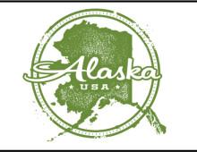 Alaska Vintage Stamp Design